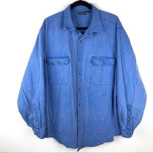 Patagonia Cotton Denim Button Down Shirt Men's XL